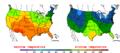 2013-05-26 Color Max-min Temperature Map NOAA.png