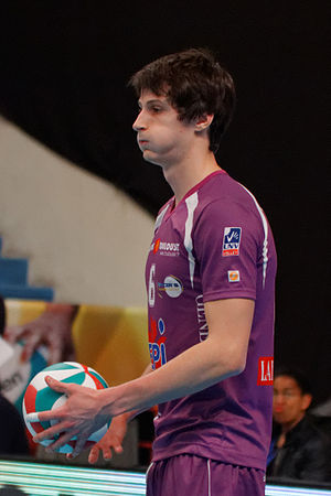 Thibault Rossard - Image: 20130330 Tours Volley Ball Spacer's Toulouse Volley Thibault Rossard 01