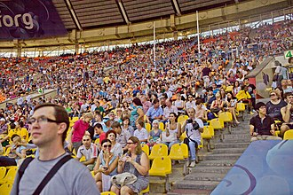 Audience - Audiences at the 2013 World Championships in Athletics in Moscow, Russia.