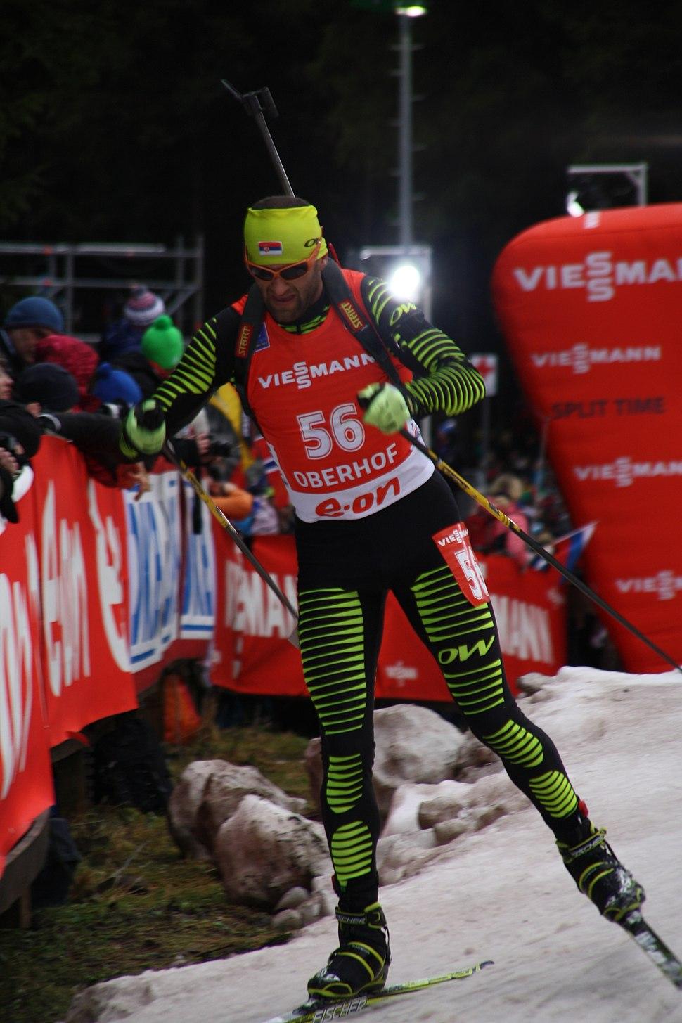 2014-01-04 Biathlon World Cup Oberhof - Mens Pursuit - 56 - Milanko Petrović