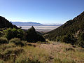 2014-06-30 07 30 58 View down from the north end of Miner's Canyon Road on the southern flank of Pilot Peak, Nevada.JPG