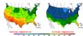 2015-10-03 Color Max-min Temperature Map NOAA.png