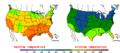 2015-10-08 Color Max-min Temperature Map NOAA.png