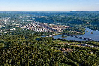 Prince George, British Columbia - An aerial view of Prince George