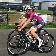 34001384a Van der Breggen ended 2017 as winner of the Women s World Tour (pictured in  the World Tour leader s jersey at the 2017 Holland Ladies Tour)
