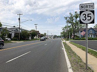 Neptune City, New Jersey - Route 35 in Neptune City