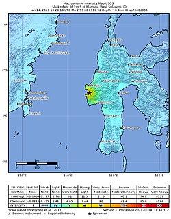 2021 West Sulawesi earthquake Earthquake in Indonesia