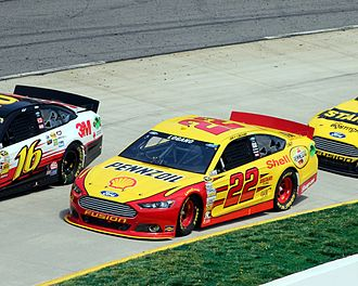 Joey Logano - Logano during the 2013 STP Gas Booster 500