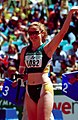 261000 - Athletics track Amy Winters waves -3b - 2000 Sydney race photo.jpg