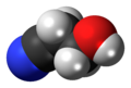 3-Hydroxypropionitrile 3D spacefill.png
