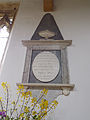 34 Aslackby St James, interior - South Aisle plaque 02.jpg