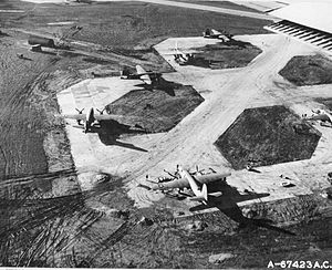 RAF Chipping Ongar - 387th Bomb Group B-26 Marauders parked at RAF Chipping Ongar England, 1944