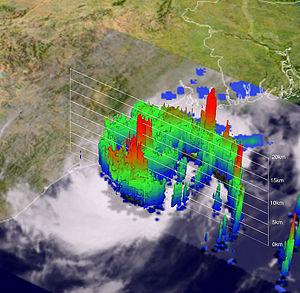 Cyclone Bijli - 3D TRMM image of Bijli on April 16 at peak intensity