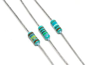 Three electrical resistors.