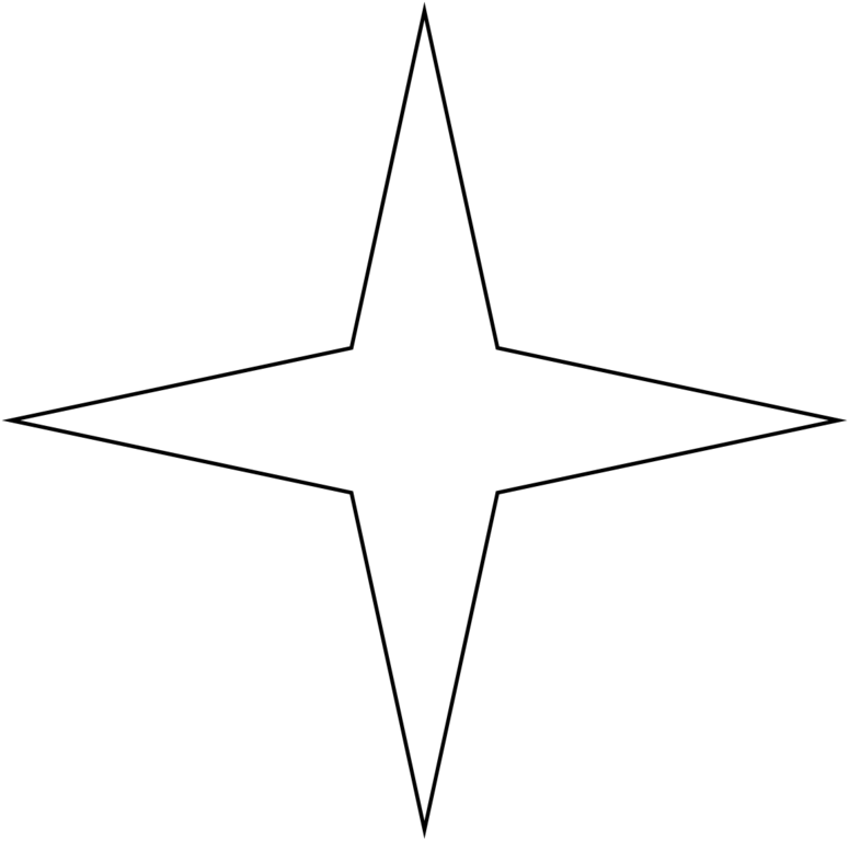 4 köşeli yıldız