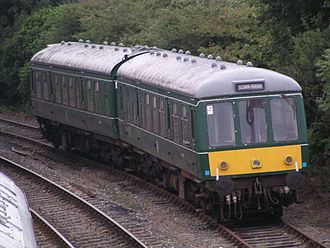 Bodmin and Wenford Railway - Class 108 DMU, nos. 50980 and 52054, in Barracks sidings at Bodmin General on 28 August 2003