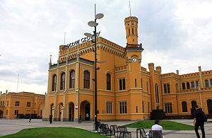 Wrocław Główny railway station - Main entrance to the station