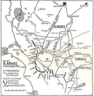 Battle of Grand Couronné - Image: 6. Armee August 1914