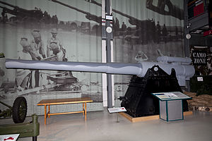 BL 6-inch Mk VII naval gun - At the Royal Artillery Museum, London