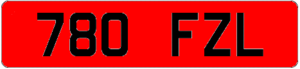 Vehicle registration plates of the Republic of Ireland - Graphical example of pre-1987 standard rear Irish number plate for County Dublin