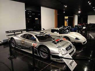 Mercedes-Benz CLK GTR - Mercedes-Benz CLK-GTR on display