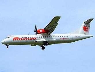 Malindo Air - Malindo Air ATR 72-600 on final approach at Sultan Iskandar Muda International Airport, Banda Aceh, Aceh