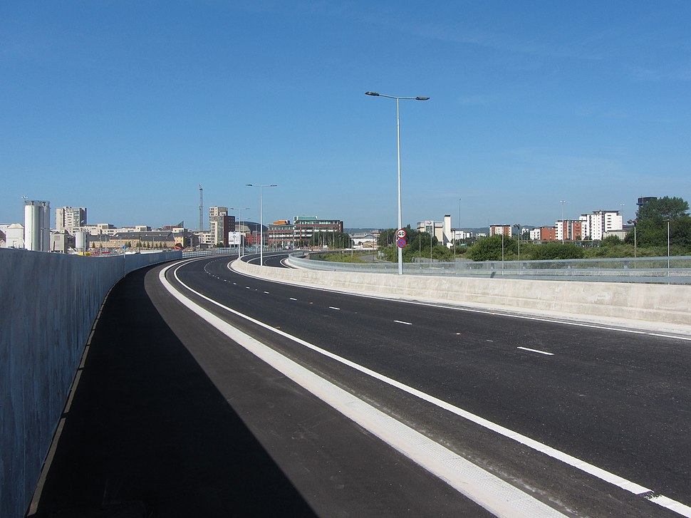 A4232 Eastern Bay Link Road geograph-5430891-by-Gareth-James