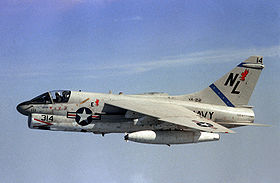 Un A-7E del VA-22 Fighting Redcocks, USN