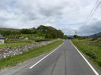 A861 road - A861 near Resipole in June 2009