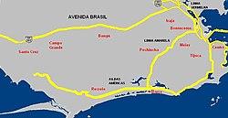 avenida do brasil mapa Avenida Brasil (Rio de Janeiro) – Wikipédia, a enciclopédia livre avenida do brasil mapa