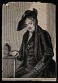 A Greenwich Pensioner, seated, with a jug near his left hand Wellcome V0013381ER.jpg
