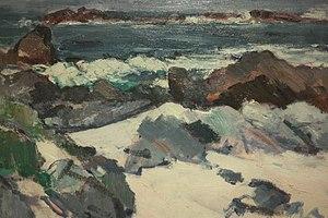 Samuel Peploe - A Rocky Shore, Iona by Samuel Peploe