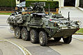 A Stryker armored vehicle manned by U.S. Soldiers with the 2nd Cavalry Regiment moves in a convoy during exercise Saber Junction near Hohenfels, Germany 121023-A-ZR192-004.jpg