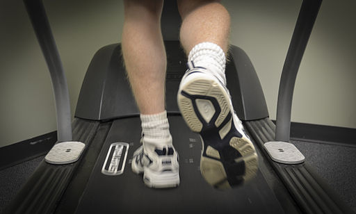 A U.S. Airman walks on a treadmill during a gait analysis appointment at the 628th Medical Operations Squadron at Joint Base Charleston, S.C 130108-F-GE255-020