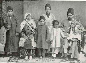 Zoroastrians in Iran - Image: A Zoroastrian Family Teheran 1910