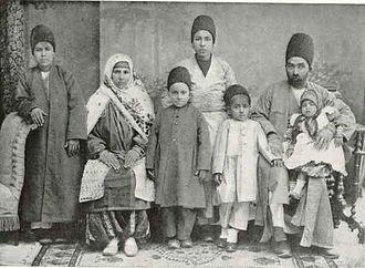 Qajar dynasty - A Zoroastrian family in Qajar Iran