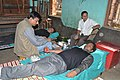 A blood donation camp organized as a part of Bharat Nirman Public Information Campaign, at Shantipur, Nadia, West Bengal on December 22, 2012.jpg