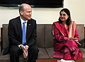 A delegation of German Parliamentarians led by Mr. Ralph Brinkhaus calls on the Union Minister for Women and Child Development, Smt. Maneka Sanjay Gandhi, in New Delhi on February 17, 2015.jpg