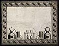 A design for a pharmacy label with scientific equipment and Wellcome V0010814.jpg
