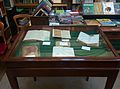 A display of Alfred Russel Wallace notebooks at the Linnean Society of London.jpg