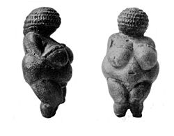 A female Paleolithic figurine, Venus of Willendorf Wellcome M0000440.jpg