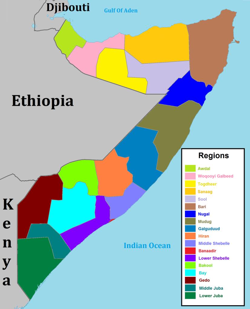 Pembagian wilayah administratif Somalia