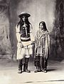 A native American man and woman. Platinum print by F.A. Rine Wellcome L0027803.jpg
