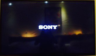 Bravia (brand) - A picture of a Sony logo during turning On with the Sony BRAVIA.