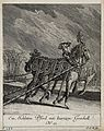 A sleigh-horse with an elaborately ornamented harness. Etchi Wellcome V0021147ER.jpg