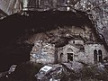 A vintage glance of Daveli's cave entrance at Pendeli mountain.jpg