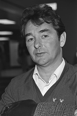 Clough als manager van Nottingham Forrest in 1980