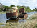 Abandoned barge on the Royal Canal at Croboy, Co. Meath - geograph.org.uk - 1284838.jpg