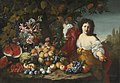 Abraham Brueghel, Guillaume Courtois - Still life of fruits and flowers with a figure.jpg