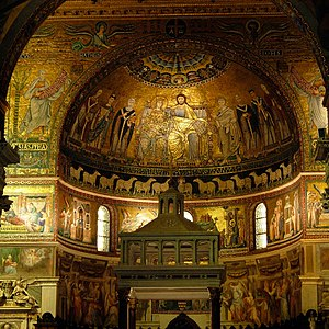 Santa Maria in Trastevere - 12th and 13th-century mosaics in the apse